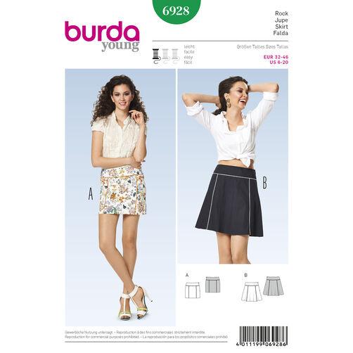 Burda Style Pattern 6928 Skirts