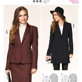 Burda Style Pattern 6875 Jackets, Coats, Vests