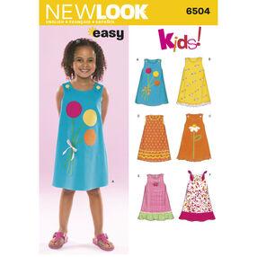 New Look Pattern 6504 Child Dresses
