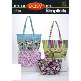 It's So Easy Pattern 2830 Bags