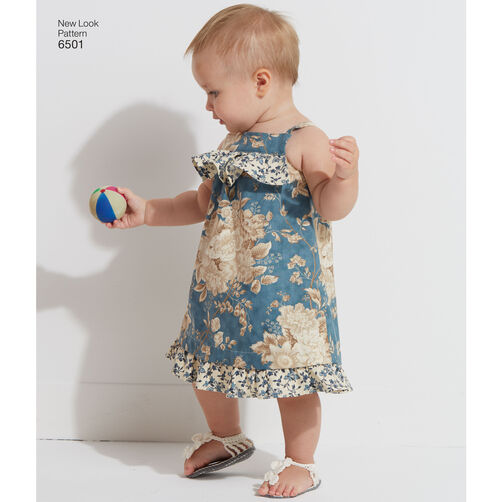 New Look Pattern 6501 Babies Dress And Romper