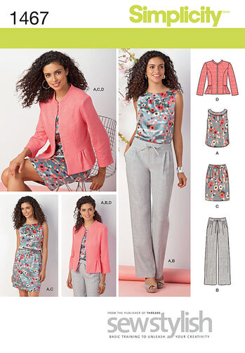 Misses' & Miss Petite Top, Jacket, Pants & Skirt