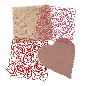 Rose And Heart Die cut Sheets_45-01019