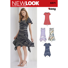 New Look Pattern 6371 Misses' Easy Dresses