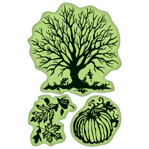 Papercut Fall Cling Stamps_60-60160