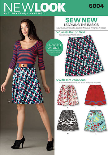 Misses' Learn to Sew Skirts