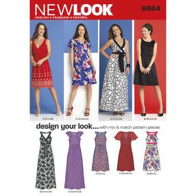 New Look Pattern 6864 Misses Dresses