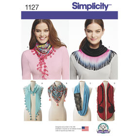 Simplicity Pattern 1127 Misses' Scarves