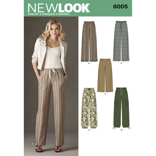 New Look Pattern 6005 Misses' Pants