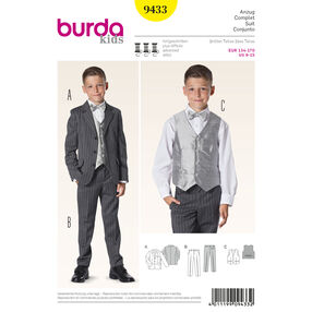 Burda Style Pattern 9433 Evening Wear