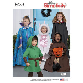 Simplicity Pattern 8483 Child's Cape Costumes