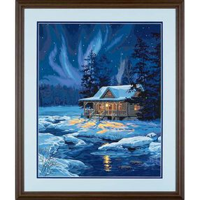 Moonlit Cabin, Paint by Number_91223