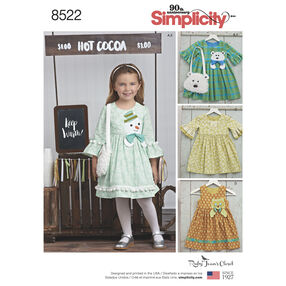 Simplicity Pattern 8522 Child's Dresses and Purses from Ruby Jean's Closet