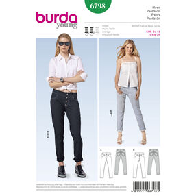 Burda Style Pattern 6798 Pants, Jumpsuits