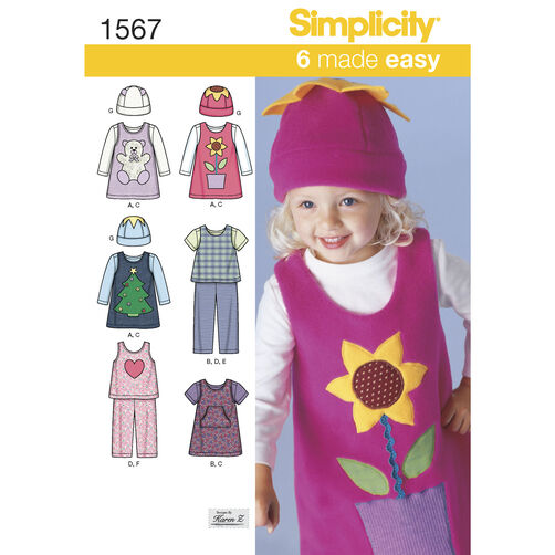 Simplicity Pattern 1567 Toddlers' Separates