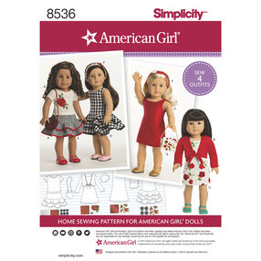 "Simplicity Pattern 8536 American Girl 18"" Doll Clothes"