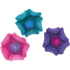Wool Felt Cup Flowers_73307