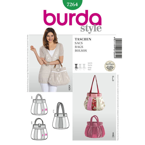 Burda Style Pattern 7264 Bags