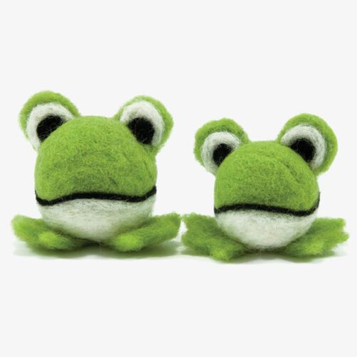 Round & Wooly Frogs, Needle Felting_72-73899