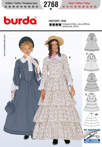 Burda Style Pattern 2768 History 1848