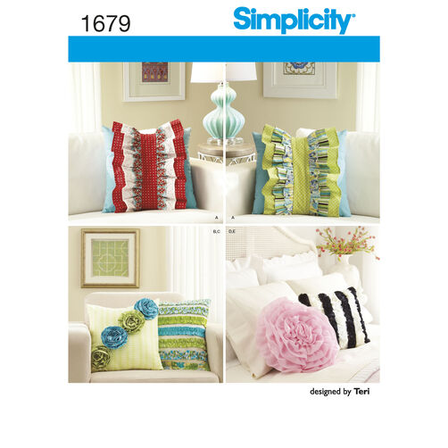 Simplicity Pattern 1679 Pillows and Decorative Detachable Ruffles