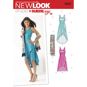 New Look Pattern 6211 Misses' Dress in Two Lengths