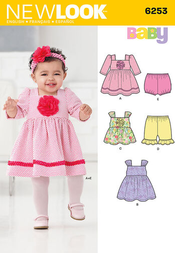 Babies' Dress, Top, Diaper Cover and Pants