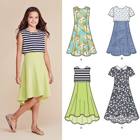 Girls' and Girls' Plus Dress or Popover Dress