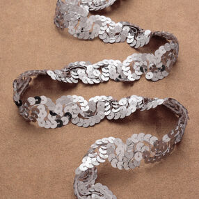 """1-1/4"""" Sequin Scroll Braid"""