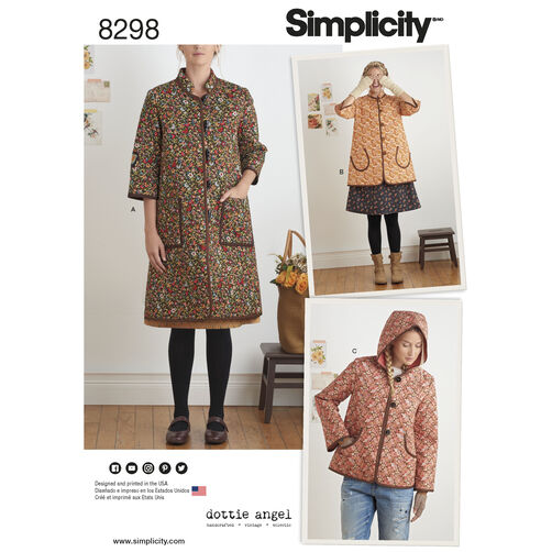 Simplicity Pattern 8298 Misses' Coat and Jacket