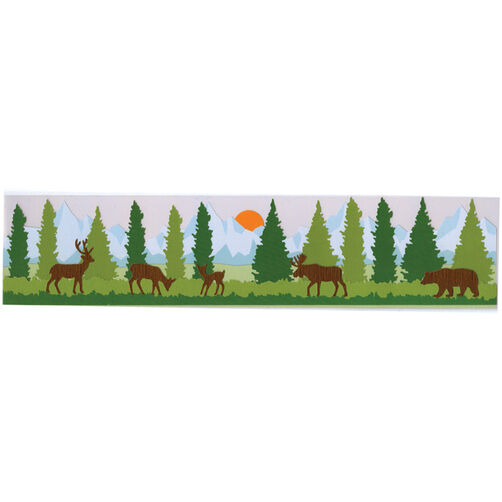 Forest Scene Border Stickers_M860487