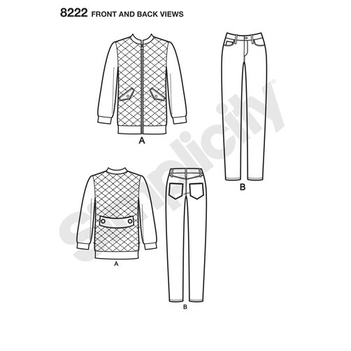 Simplicity Pattern 8222 Mimi G Bomber Jacket and Stretch