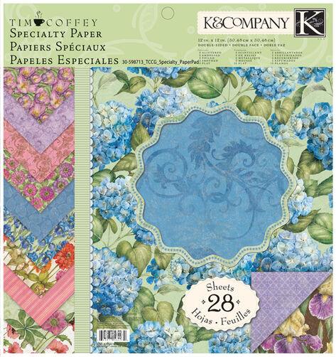 Tim Coffey Cottage Garden 12x12 Specialty Paper Pad_30-598713