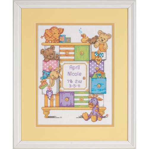 Baby Drawers Birth Record, Counted Cross Stitch_73538