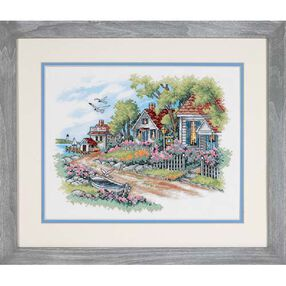 Cottages by the Sea, Stamped Cross Stitch_03240