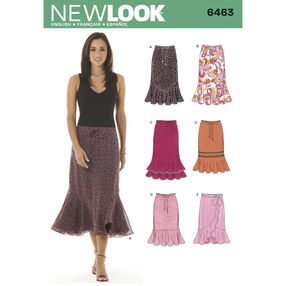 New Look Pattern 6463 Misses Skirts