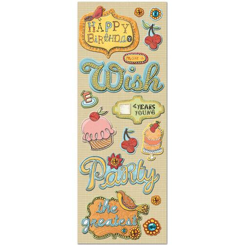 Handmade Birthday Adhesive Chipboard_30-442559