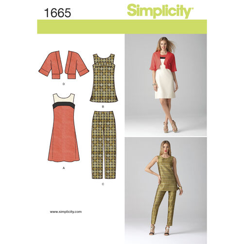 Simplicity Pattern 1665 Misses' & Miss Petite Separates