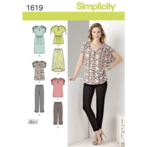 Simplicity Pattern 1619 Misses' Sportswear