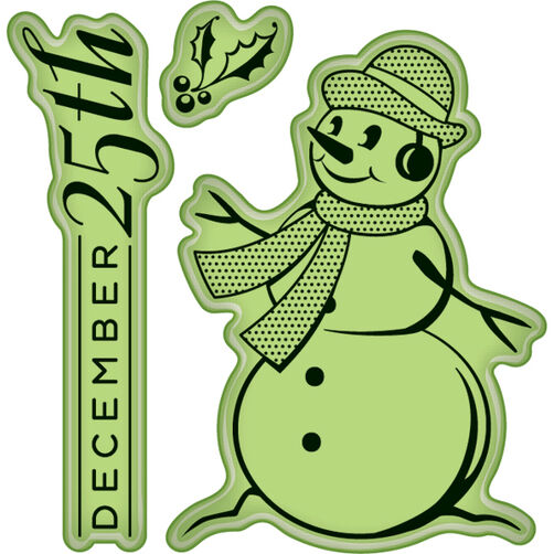 Snowman Mini Cling Stamps_60-60297