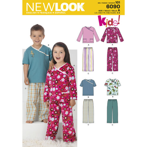 New Look Pattern 6090 Child's Sleepwear