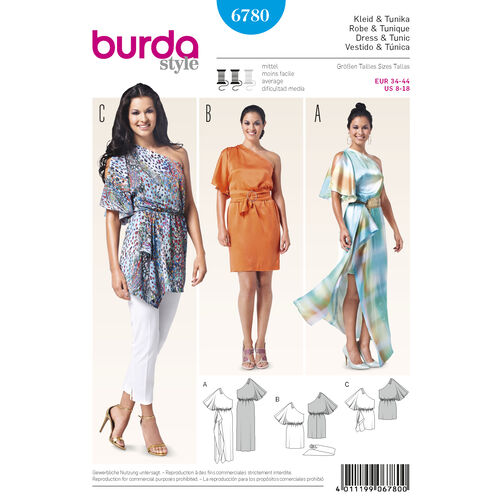 Burda Style Pattern 6780 Evening & Bridal Wear