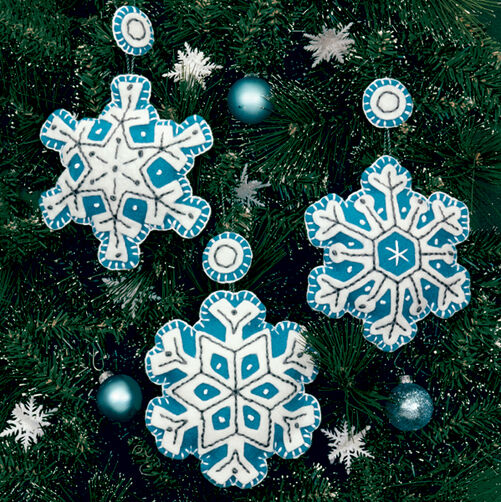 Flurries Ornaments, Felt Applique_72-08183