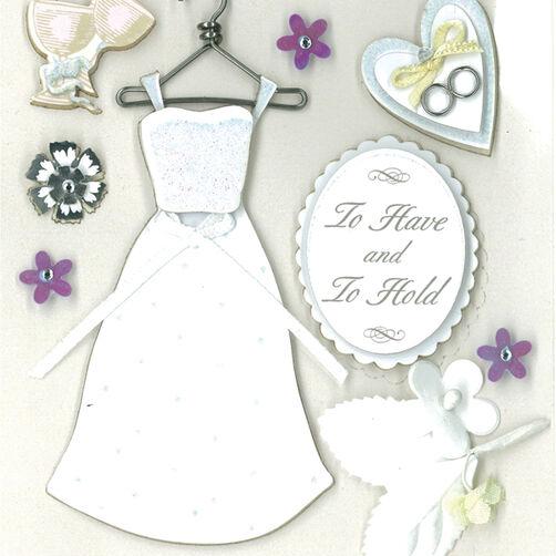 Classic Wedding Dimensional Sticker _30-577411