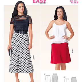 Burda Style Pattern 6818 Skirts