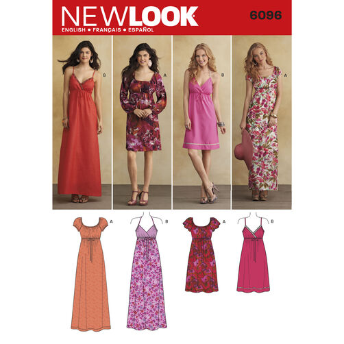 New Look Pattern 6096 Misses' Dresses