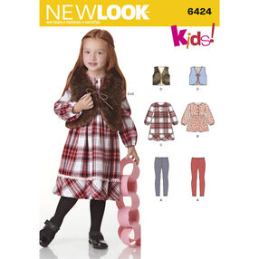 Child's Dress, Top, Vest and Knit Leggings