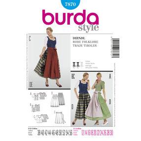 Burda Style Pattern 7870 Dirndl Dress