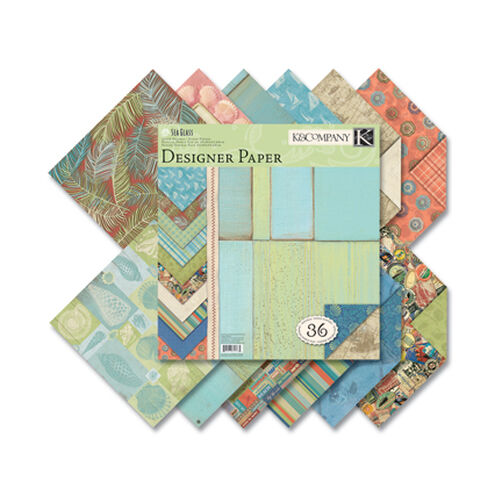 Sea Glass 12x12 Two-Sided Designer Paper Pad_625365