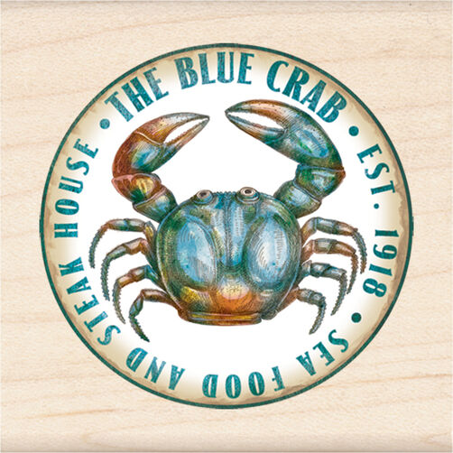 The Blue Crab Wood Stamp_60-00983